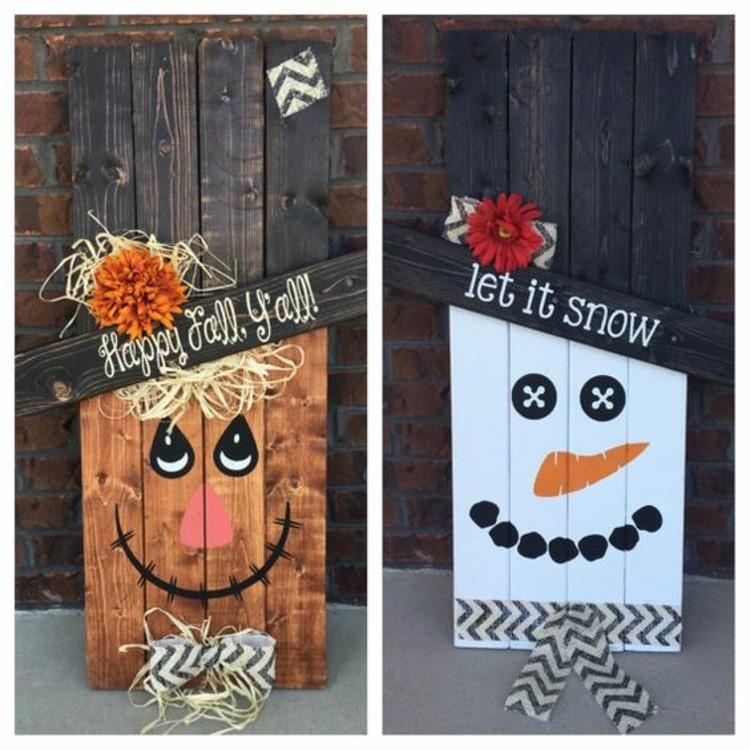 Paletten kaufen und herbstdeko daraus schaffen deko ideen for Pinterest pallet christmas ideas