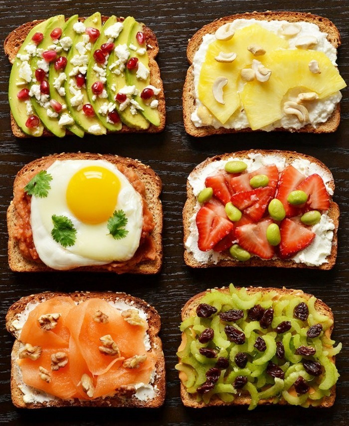 brotaufstriche frühstücksideen avokado gesund brot basilikum gruppe