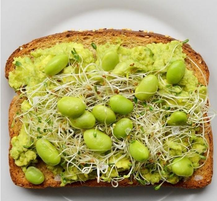 frühstücksideen frühstücksideen avokado gesund brot basilikum soja