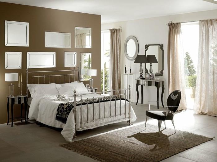 dekoideen schlafzimmer ideen metallbett designer moebel