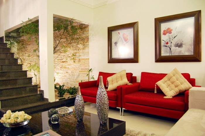 wohnzimmer naturtöne:Klare Linien und Naturtöne im Wohnzimmer