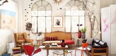dekoideen-wohnzimmer-einrichten-retro-stil-sofa-sessel-teppich