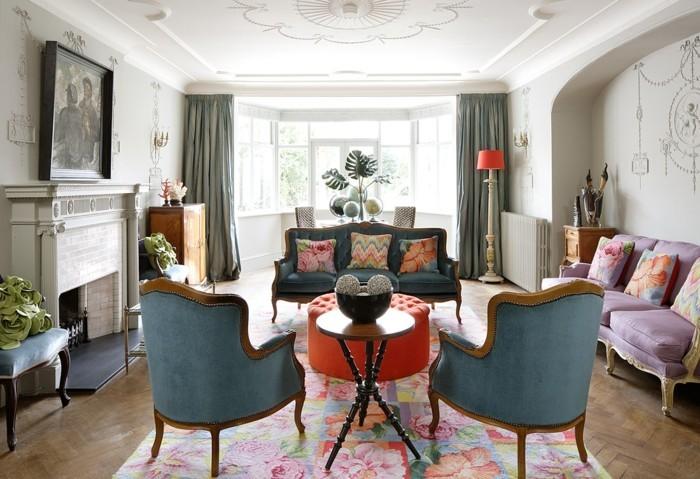 dekoideen wohnzimmereinrichtung retromobel polstermobel sessel couch