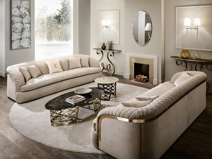 dekoideen wohzimmer einrichten polstermobel schmiedeeisen couchtische marmor sofas mobel