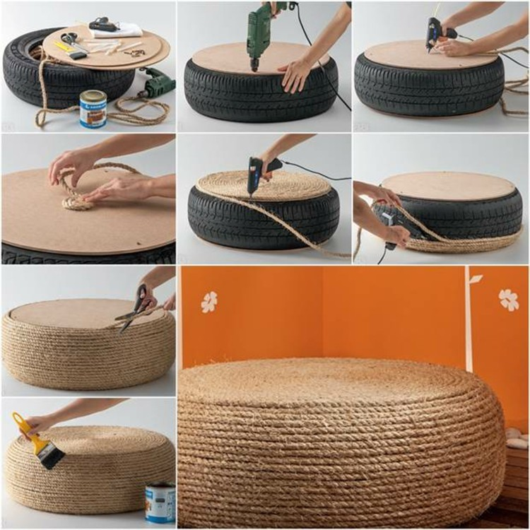 Do it yourself ideen mit alten reifen 20 inspirierende for How to make tire furniture