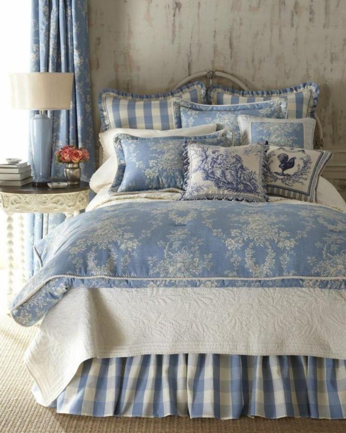 einrichtung landhausstil schlafzimmer einrichten schöne bettwäsche