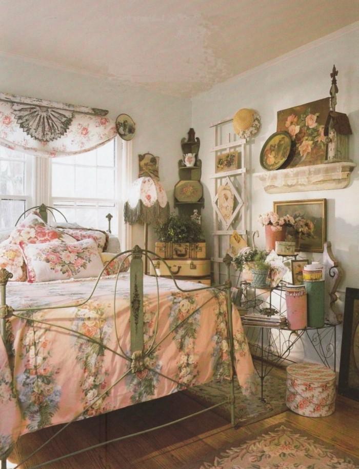 einrichtungsideen schlafzimmer vintage schöne zimmerdecke