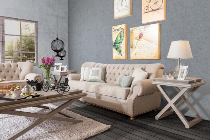 wohnzimmer einrichten ideen englischer landhausstil wohnzimmer einrichten holzmobel polstermobel sofa couchtisch
