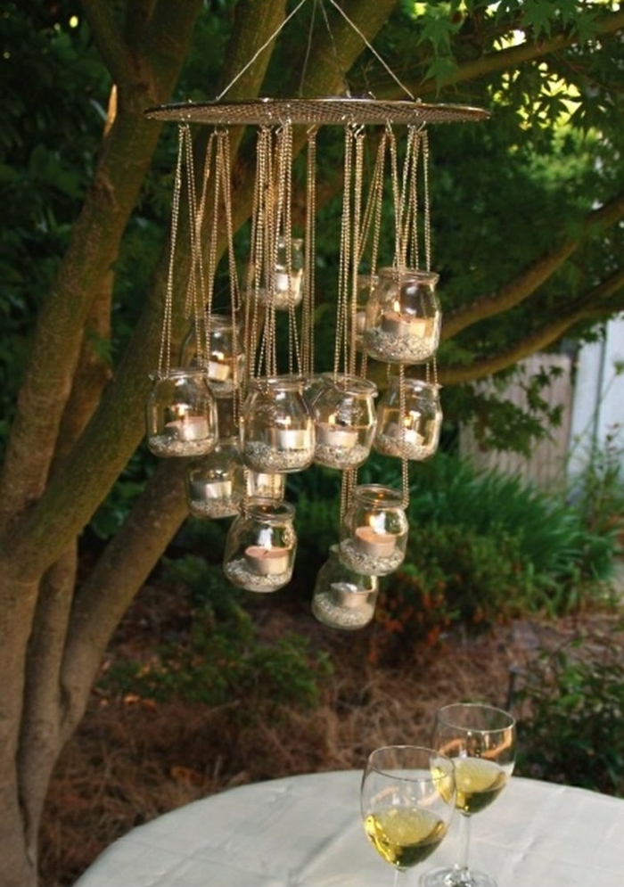garten gestalten bilder diy leuchter gartenideen