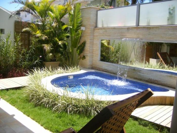 garten gestalten bilder schwimmbad pflanzen wasser