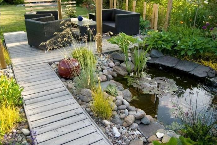 40 garteneinrichtung beispiele inneneinrichtungsideen welche auch den au enbereich sch ner machen - Gartenideen teich ...