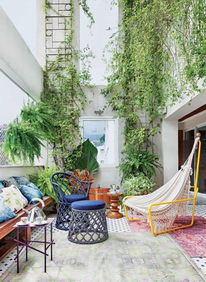 Gartengestaltung Ideen Außenbereich Gestalten Teppich Moderne Gartenmöbel