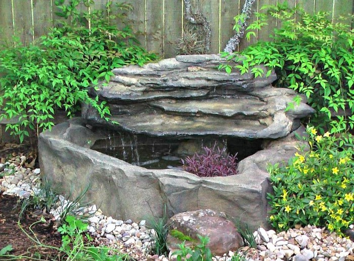 gartengestaltung ideen dekoideen wasser steine pflanzen