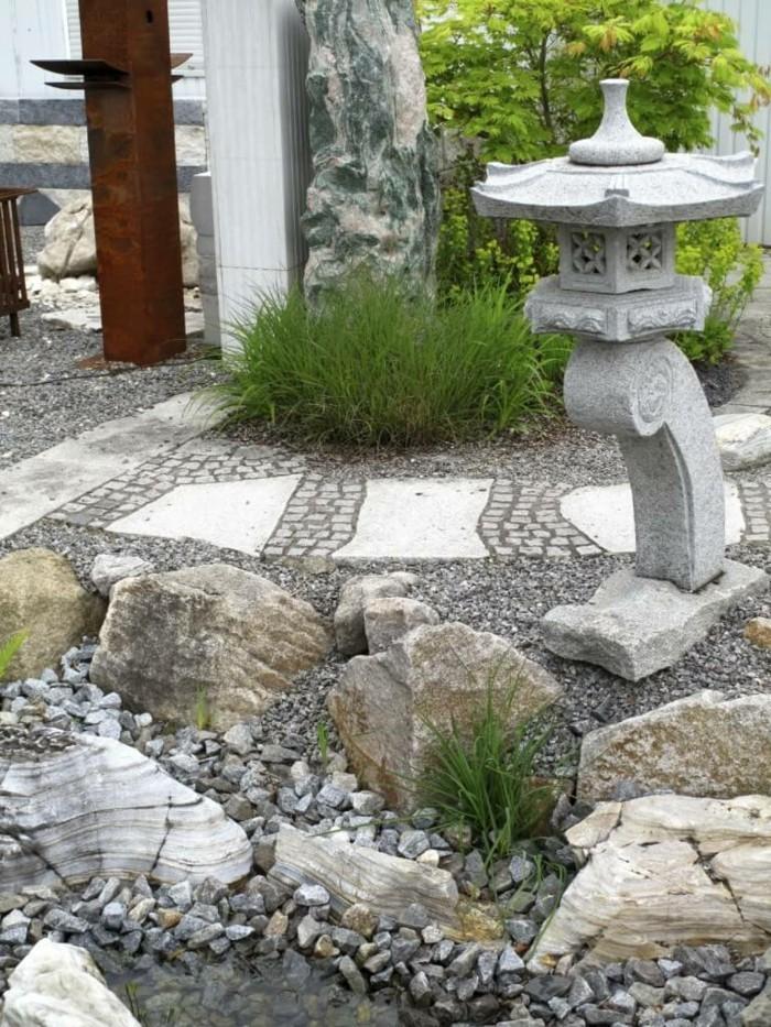 gartenideen steingarten gestalten außenbereich ideen
