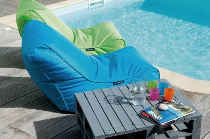 Sitzsack Outdoor - 20 trendige Einrichtungsideen für den modernen ...