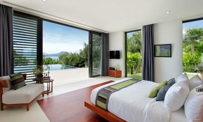 Fensterverdunkelung Schlafzimmer Gestaltung Schlafzimmer Exotisches  Schlafzimmer Fensterverdunkelung Im Schlafzimmer ...