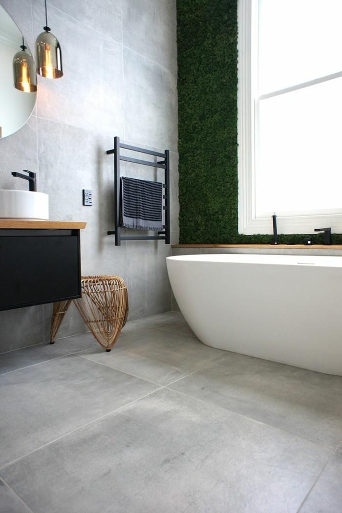 ideen für wandgestaltung badezimmer fliesen hellgrau