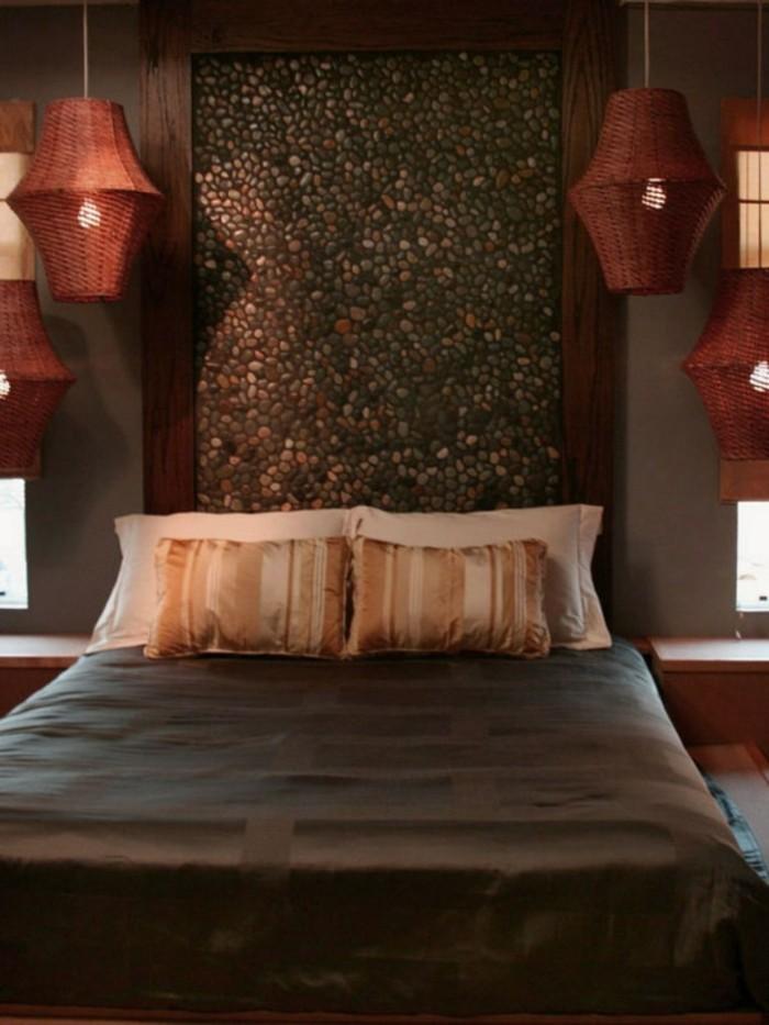 ideen für wandgestaltung wandfliesen mosaik hängelampen