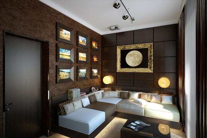 frischer look durch wandgestaltung: moderne ideen für ihre, Wohnzimmer dekoo