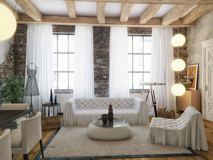 ziegelwand wohnzimmer:70 Ideen für Wandgestaltung – Beispiele, wie Sie den Raum aufwerten