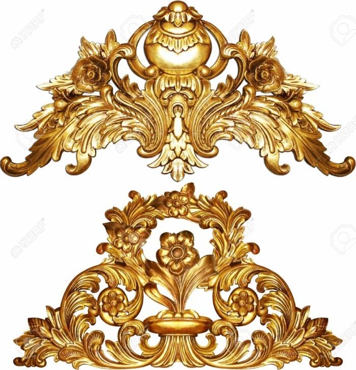 innendesign einrichtungsbeispiel wohnideen deko ideen barock ornamente