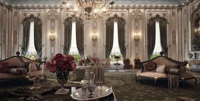 innendesign einrichtungsbeispiel wohnideen deko ideen barock salon