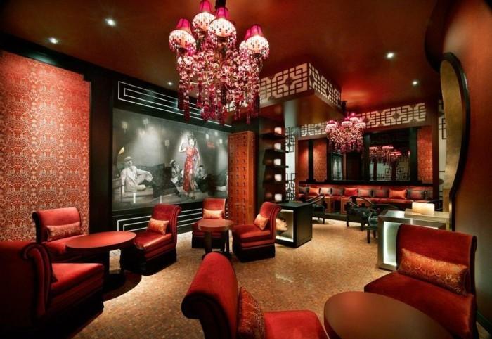 innendesign einrichtungsbeispiele wohnideen deko ideen china rot