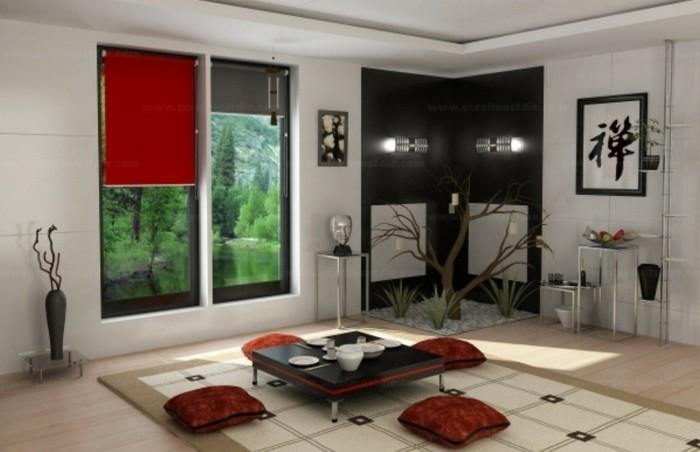 innendesign einrichtungsbeispie wohnideen deko ideen china tee zimmer farbgebung