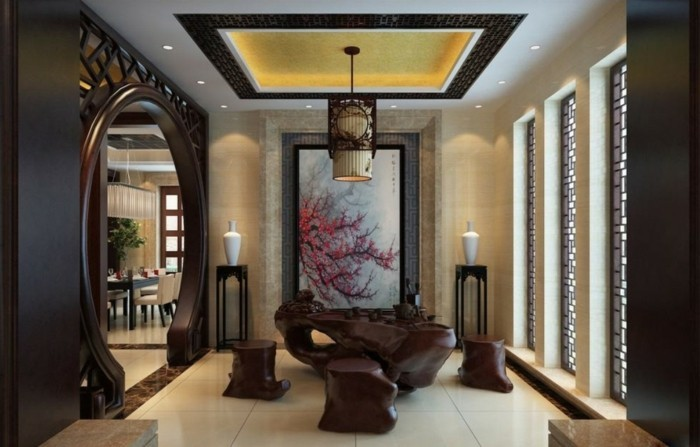 innendesign einrichtungsbeispiele wohnideen deko ideen china tee zimmer