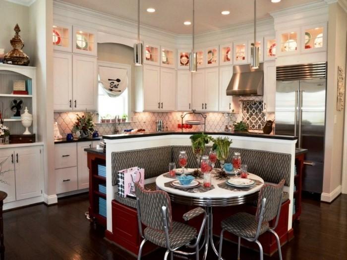 innendesign ideen küche einrichten ideen retro stil essbereich gestalten