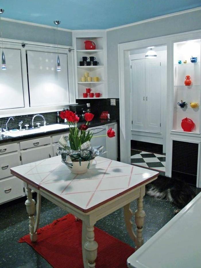 innendesign ideen wohnideen küche retro stil