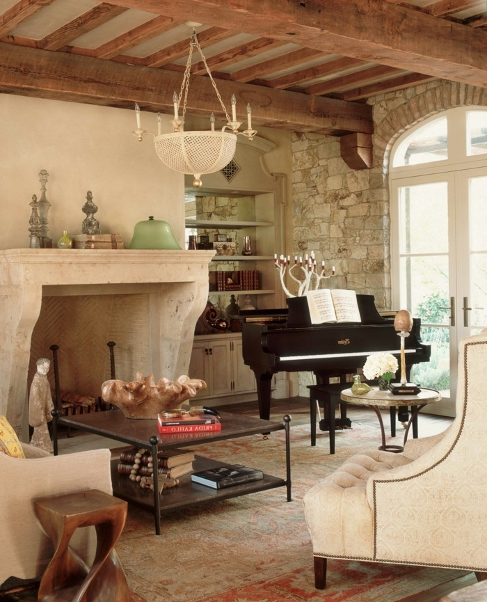 innendesign ideen wohnzimmer einrichten provence