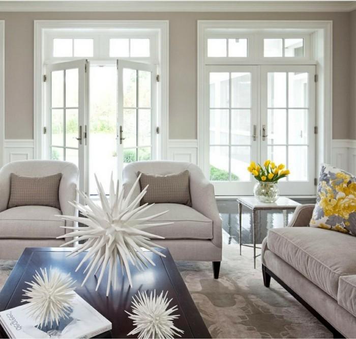 innendesign ideen wohnzimmer schöne dekoideen blumenmuster