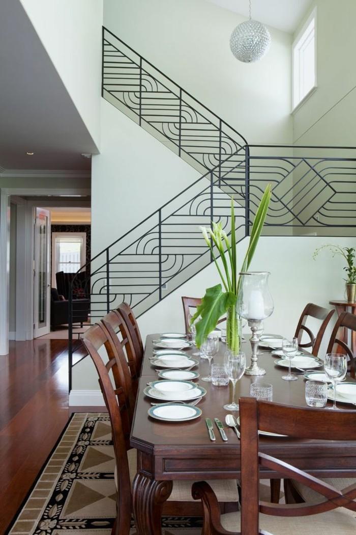innendesign innentreppen treppengeländer art deco stil