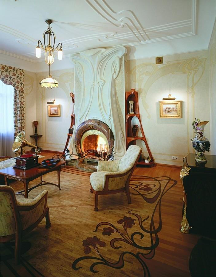 innendesign wohnideen einrichtungsbeispiele jugendstil sofa libelle wohnzimmer