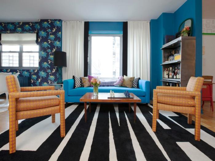 innendesign wohnideen wohnzimmer wandgestaltung ideen teppichmuster