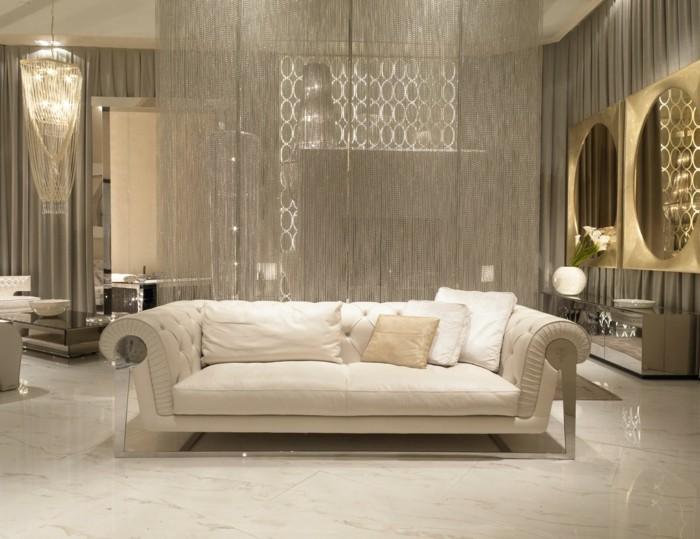 innendesign wohnzimmer einrichtung art deco marmor bodenbelag ideen