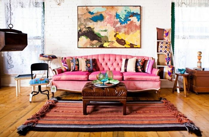 innendesign wohnzimmer eklektisches innendesign
