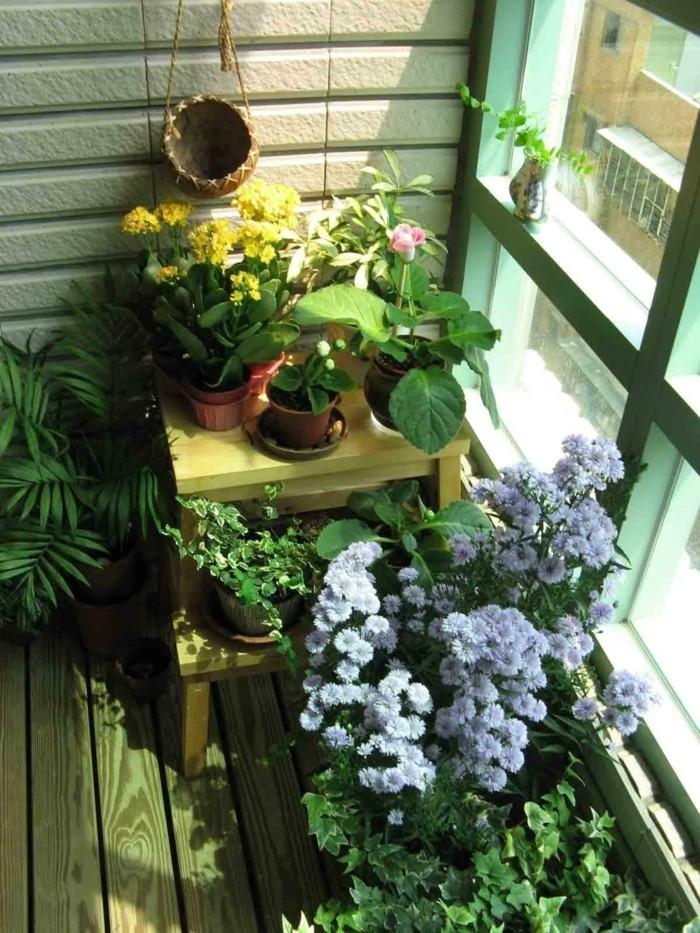 inneneinrichtung balkon ideen pflanzen wohnideen
