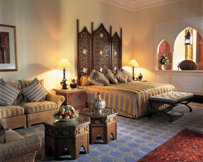 inneneinrichtung ideen wohnideen schlafzimmer bettkopfteil schöner bodenbelag