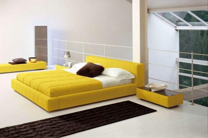 wohnungseinrichtung kombinationen mit gelb in der inneneinrichtung. Black Bedroom Furniture Sets. Home Design Ideas