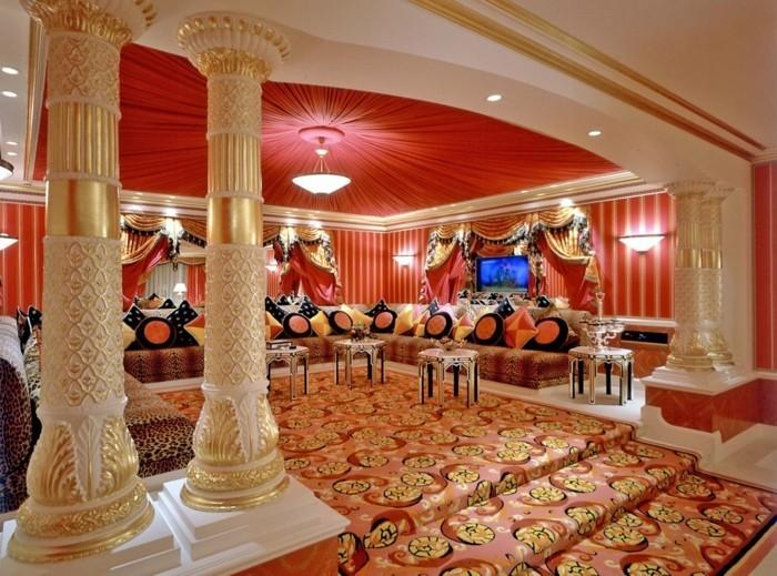 inneneinrichtung ideen im arabischen stil, wie sie ein, Wohnzimmer