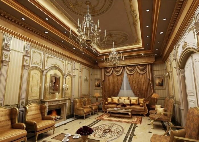 Arabisches Wohnzimmer Inneneinrichtung Ideen Einrichten Arabischer Stil Goldene