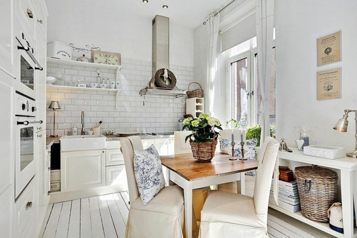 inneneinrichtung küche einrichten ideen skandinavisches design holzboden
