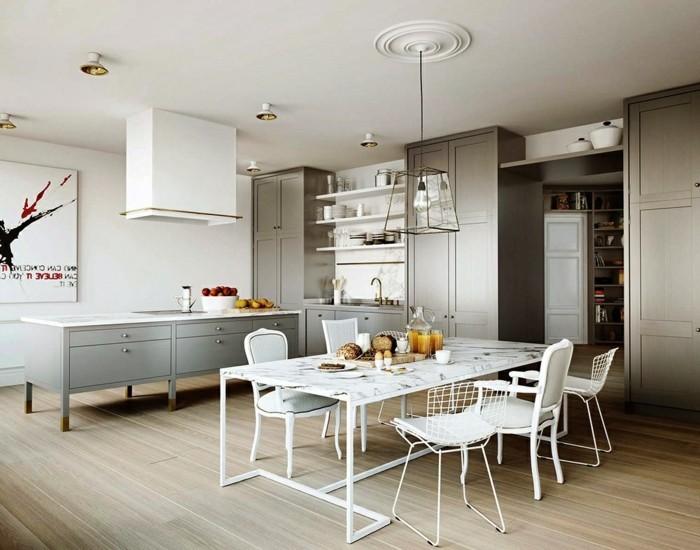 inneneinrichtung küche skandinavisch einrichten holzboden