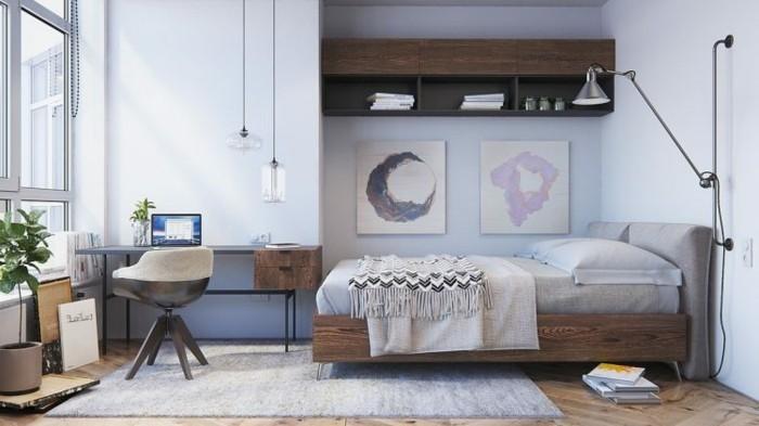 inneneinrichtung schlafzimmer einrichten skandinavisch pastellfarben