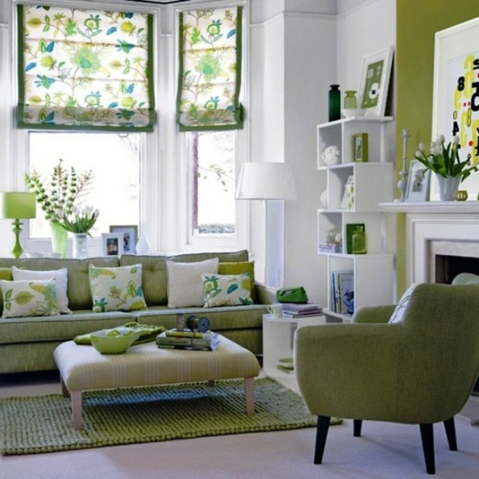 inneneinrichtung umweltstil grüne möbel teppich florale muster
