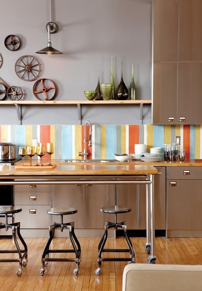 küchendesign farbige küchenrückwand macht die stimmung heiter