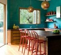 Küchendesign in mutigen Farben – 50 Beispiele, wie Sie die Küche frisch einrichten