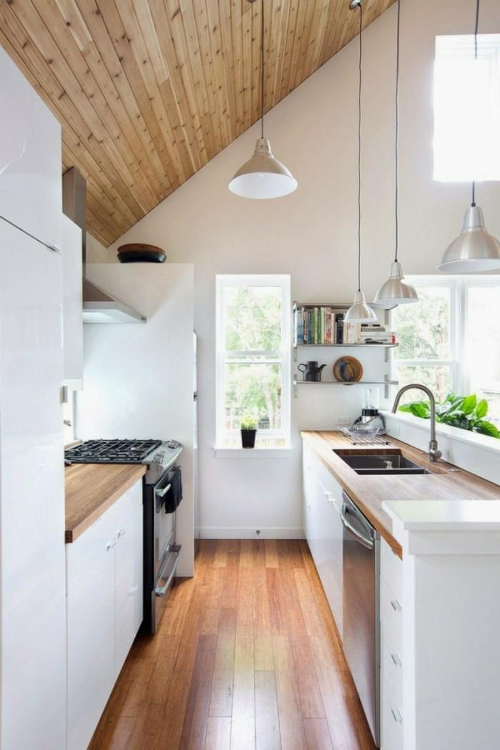 Dachgeschosswohnung kücheneinrichtung dachschräge deko ideen küche21